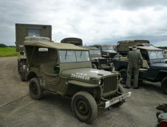 WW2 military vehicles on Knettishall airfield