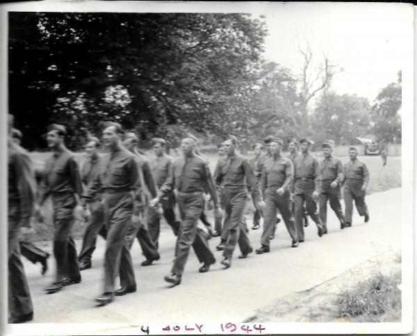 USAF servicemen marching down The Street